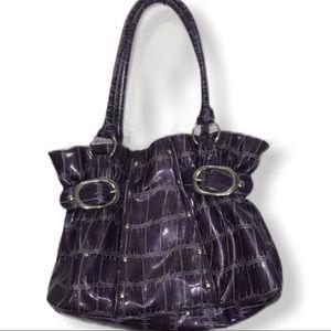 4/$25 sale Purple purse silver buckles gathered
